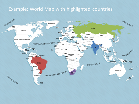Countries Powerpoint Insssrenterprisesco - World map with countries and capitals in english